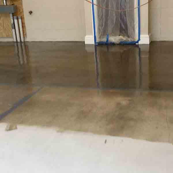 Colorworks specialty floor coating garage prep Step 3