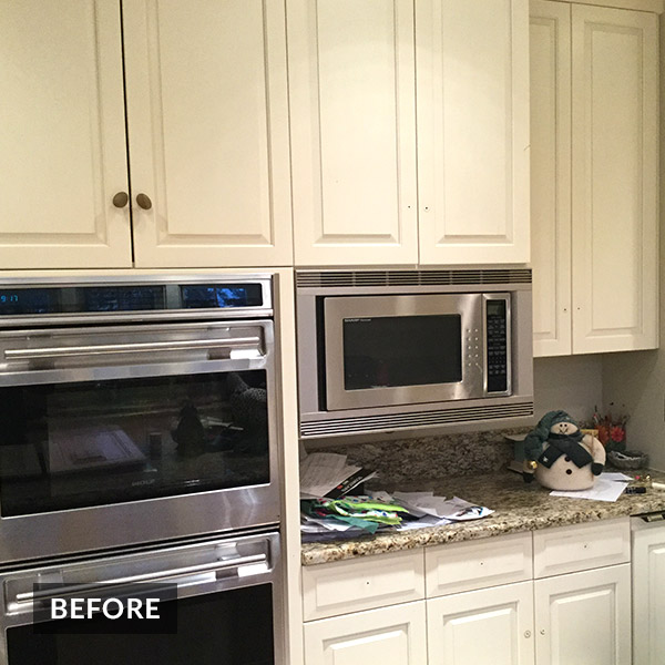 Colorworks Usher Kitchen Cabinet Refinishing - Before