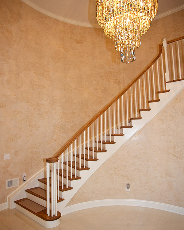 Colorworks Residential Faux Finish - Foyer with Grand Staircase and Chandelier